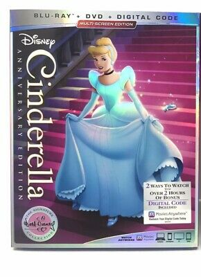 Cinderella Disney [Blu-Ray | DVD] Anniversary Edition Movie Club (No Digital)
