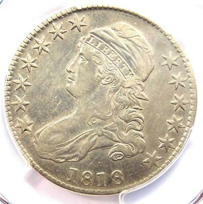 1818 Capped Bust Half Dollar 50C - PCGS XF Details (EF) - Rare Certified Coin!