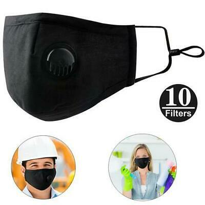 Breathable Anti Pollution Face Mask +10x Replace Air Filters Dust Anti PM2.5 HOT
