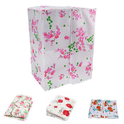 Floral Waterproof Washing Machine Zippered Dust Cover Protection Durable Thicker