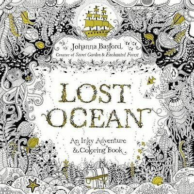 Lost Ocean: An Inky Adventure and Coloring Book for Adults by Basford, Johanna
