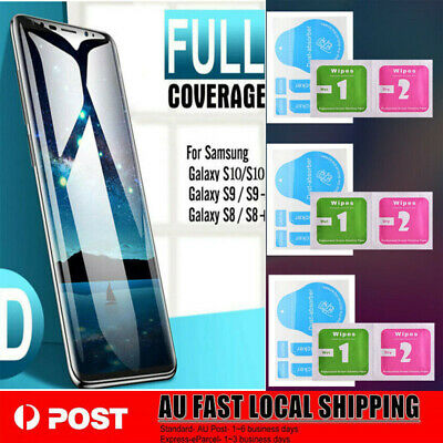 3 PCS For Samsung S10 S9 S8 6D Curved Temper Glass Screen Protector lot