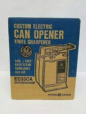 NEW Vintage GE General Electric AUTOMATIC Can Opener EC32CA Coffee/Almond Sealed