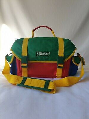 UCB United Colors of Benetton Camera Bag 90s Vintage Rare Large Colour block