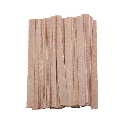 50x Wood Wooden Candles Core Wick Candle Making Supplies With Iron Stands IN9