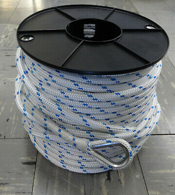 8mm x 100Mtr Double Braid with S/S Thimble Anchor Rope - 100% Australian Made
