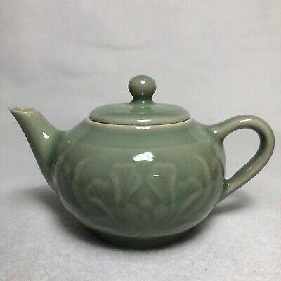 Japanese Small Pottery Teapot /with Peony style /Old Antique/Vintage/From Japan