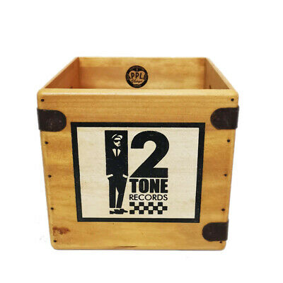 "2 Tone Record Box 7"" Single Boxes Wooden Vinyl Crate Records Ska The Specials"