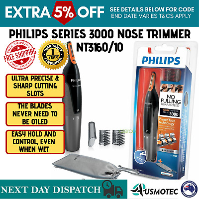 PHILIPS Electric Mens Shaver Clippers Nose Ear Eyebrow Hair Trimmer Grooming Kit