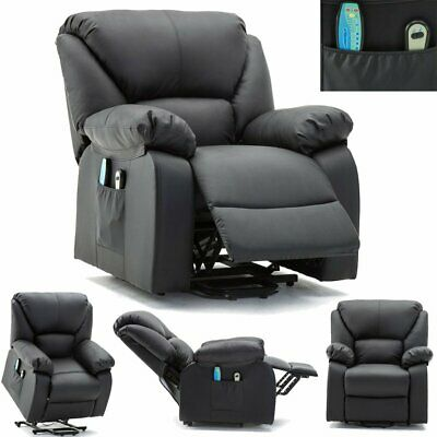 Electric Riser Massage Heated Recliner Lounge Chair Armchair Sofa w/ Foorest UK