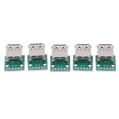 5Pcs Type A Female Usb To Dip 2.54Mm Pcb Connector Usb Pcb Board Conne~PL