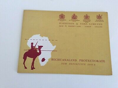 Bechuanaland 1961 Set of 14 Harrison & Son Printers Presentation Card