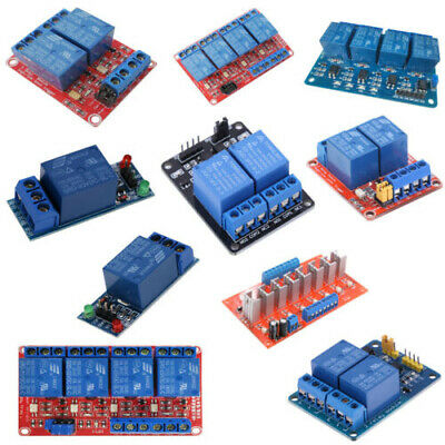 1/2/4 Channel 5V-24V Relay Module Board With Optocoupler H/L Level Triger 30A