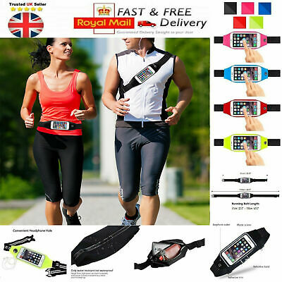 Sports waist Belt Mobile Phone Holder Bag Running Gym WaistBand Exercise