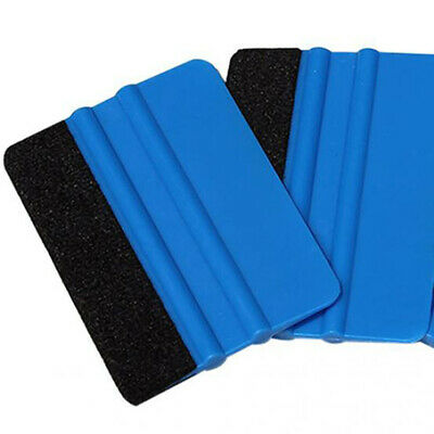 Felt Squeegee Scraper Edge Car Window Glass Decal Tool 10*7.3cm Blue 1pc New