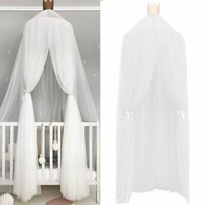Canopy Bed Baby Ball Mosquito Net Pom Hanging Chiffon Decor Kids Room Nursery