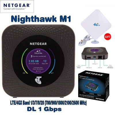 Netgear Nighthawk M1 MR1100 Wireless 4G Router LTE Gigabit Antenna Unlocked WiFi