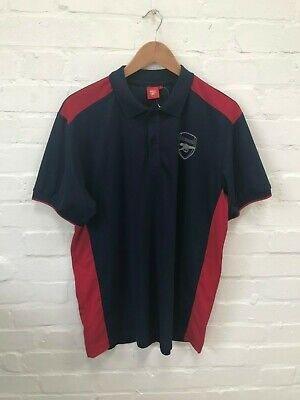 Arsenal FC Official Men's Football Poly Polo Shirt - Large - Navy - New