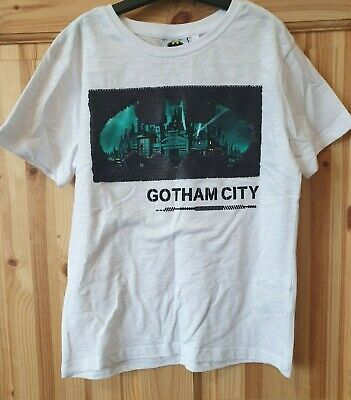 Next Short Sleeve White Batman Top Size 7 Years. BNWT.