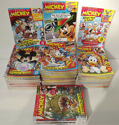Le journal de Mickey Enorme Lot de 165 magazines Bande dessinée 2019 à 2015 TBE
