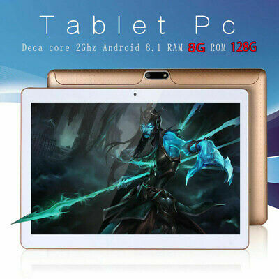 WOW! 10.1'' Tablet Android 8.1 Bluetooth PC 8+128G ROM 2SIM GPS Phone Pad IPS++