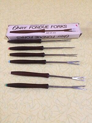 Vintage Oster Fondue Forks (Set Of Six — Stainless Steel)
