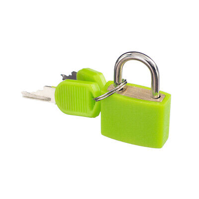 Lovoski Small Padlock with Two Keys for Luggage Suitcase Bag 22x34mm Green