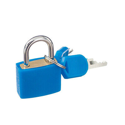Lovoski Small Padlock with Two Keys for Luggage Suitcase Bag 22mm Dark Blue