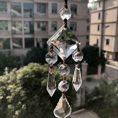 Handmade CRYSTAL Chandelier Glass Lamp Hanging Pendant Part Decor SUNCATCHER DIY