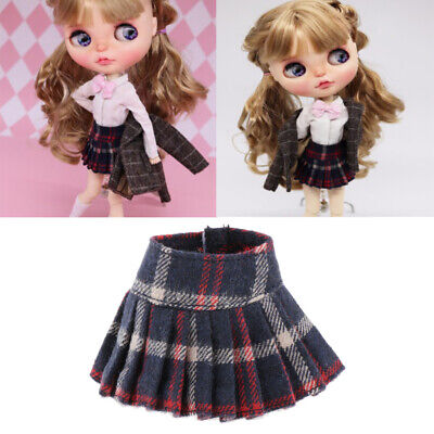 1/6 Fashion Pleated Skirt for Blythe 12inch Doll School Outfits Accessory
