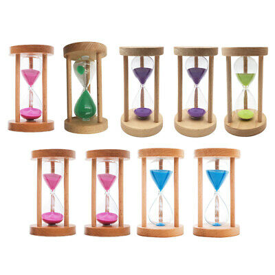 Wood Round Frame Ancient Sand Timer Hourglass Toy for Kitchen Cooking Tool