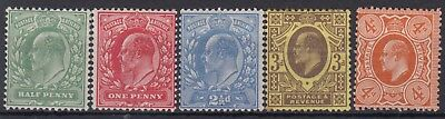 SG 267-278 1/2d - 4d Harrison Perf 14 set in average mounted mint condition .