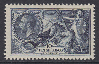 SG 452 10/- Indigo 1934 Re-Engraved Seahorse in Post Office fresh unmounted mint