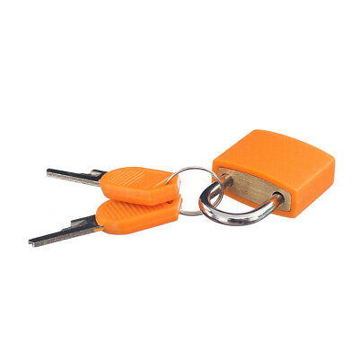 Safety Small Travel Padlock with 2 Keys for Luggage Suitcase Bag 22mm Orange