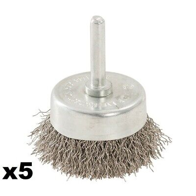 5 x 50MM ROTARY STAINLESS STEEL WIRE CUP BRUSH -  529311