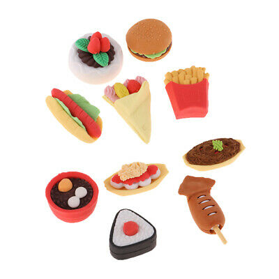 1/12 Scale Dollhouse Miniature Kitchen Foods 10 Piece Mixed Table Decoration