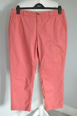 Fat Face - Women's - Lulworth Chino Crop Trousers - Pink/Cedar - Size 12