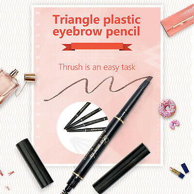 5-color Automatic Double-headed Eyebrow Pencil Waterproof  Natural Long Lasting