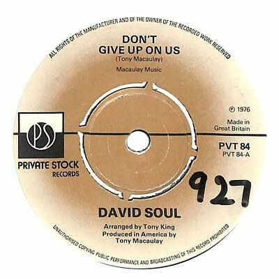 """David Soul - Don't Give Up On Us - 7"""" Vinyl Record"""