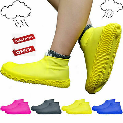 Waterproof Shoe Cover Shoes Elasticity Reusable Latex Rain Covers Anti-slip D2G9