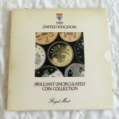 UK 1989 ROYAL MINT BRILLIANT UNCIRCULATED 7 COIN SET - sealed pack