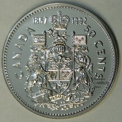 1992 Canada Proof-Like Double Date 50 Cents