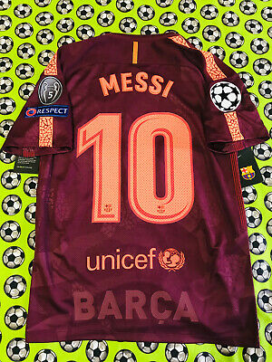 NEW Nike FC Barcelona 3rd Soccer Football Jersey 2017 2018 Lionel Messi