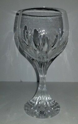"""Flawless Baccarat Massena Crystal glass Wine Goblet 6-3/8"""" tall Stamped France"""