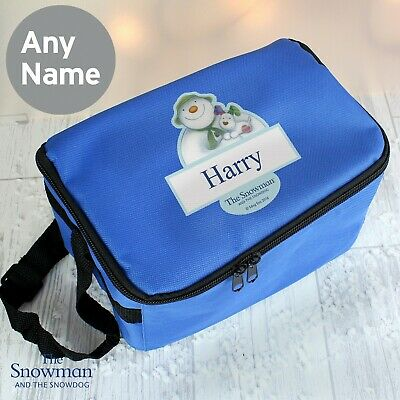 Personalised Official The Snowman and the Snowdog Boys School Lunch Bag