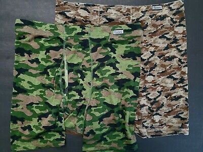 272747d6be0d95 2 Pair Vintage HANES Mens Boxer Briefs Underwear Fly Front Camouflage LG