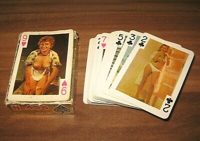 54 Erotika Akt Models Vintage Mini Kartenspiel Colour Playing Cards komplett Rar