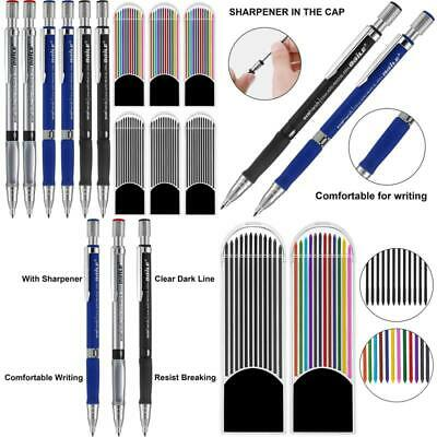Excelfu 6 Pieces 2.0 Mm Mechanical Pencils With 6 Cases Lead Refills, Color And