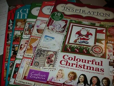 Crafters Inspiration Magazines Issues 3, 7, 8, 11 & 12