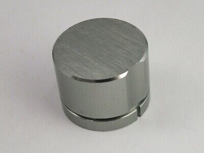 2 VINTAGE ALUMINIUM CONTROL KNOBS Brushed Top for RADIO Stereo HiFi Separates